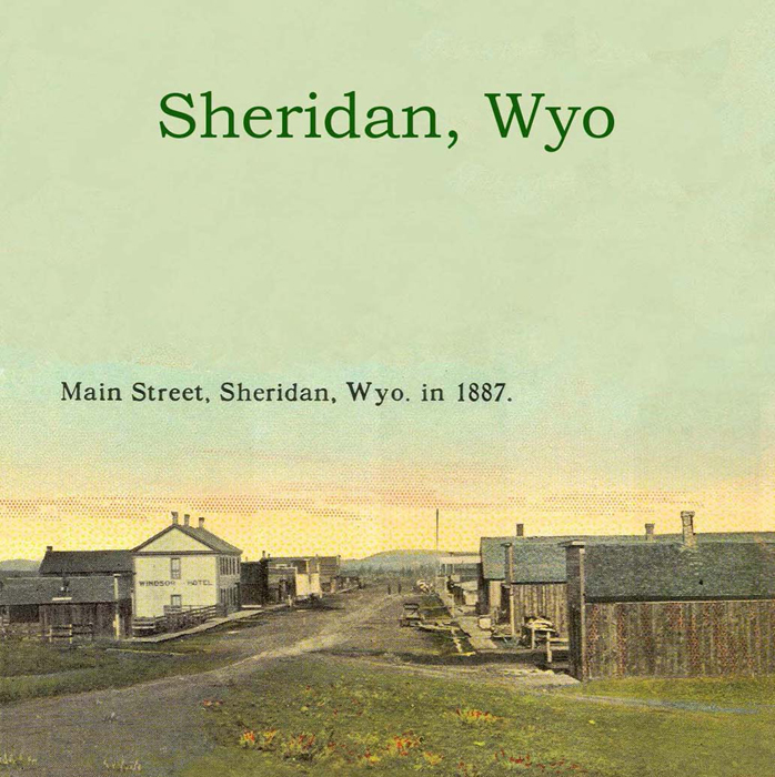 Sheridan, WY Vintage Canvas Tote - Click Image to Close