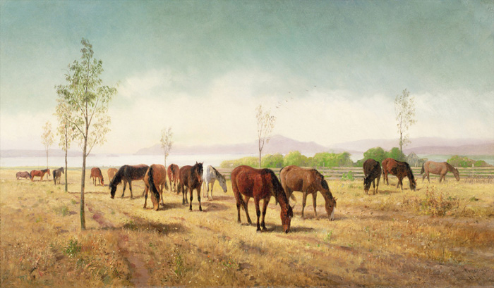 Horses Grazing 1875 Credit Card Cases