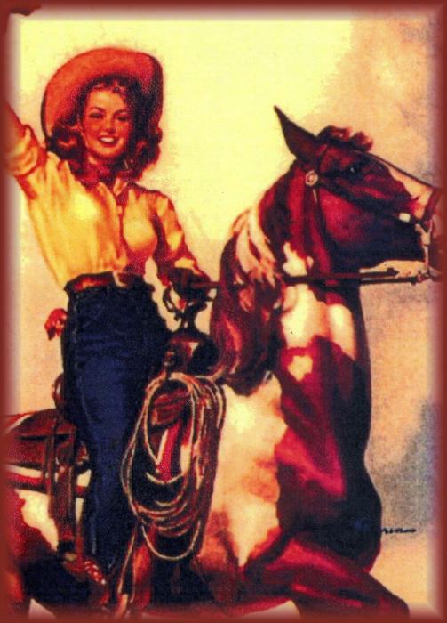 On A Horse Pin Up Canvas Tote